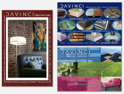 Marketing Mailers for custom retail furniture store