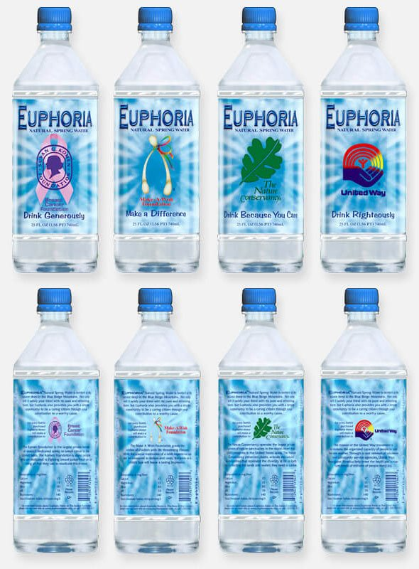 Label designs for bottled water company